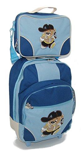 STEFANO Trolley Kindertrolley Reisetasche Kinder Kindertasche Teddy blau