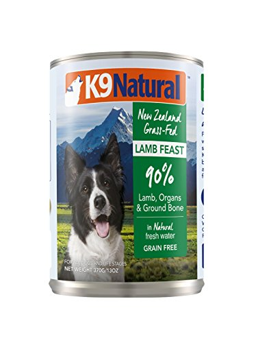 K9 Natural BPA-Free & Gelatin-Free Canned Dog Food, Lamb 13oz 12 Pack