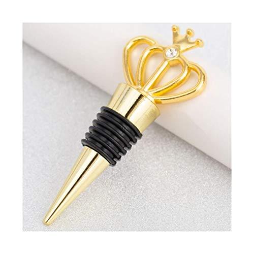 Tapon de vino 2 unids de estilo europeo botella corcho cordo corona botella de vino tapón decoración regalos de cocina gadget barra herramienta accesorios Tapones de botella (Color : Gold)