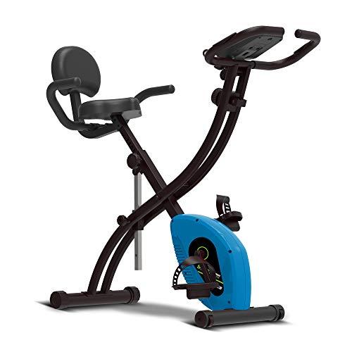 SportTronic Heimtrainer Klappbar bis 110kg, Fitness Bike, magnetische faltbares Fitnessfahrrad mit 10 Widerstandsstufen