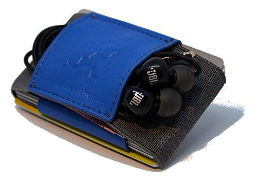 MakakaOnTheRun Portamonete, 1 - Veganes Kunstleder Blau (Blu) - MOTR-3CH-VegGrayBlue