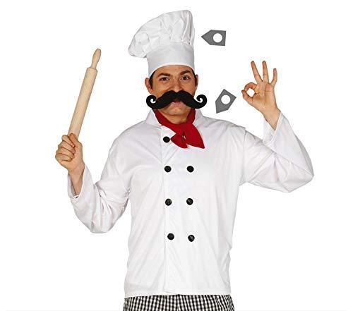 FIESTAS GUIRCA Set Chef Gorro Foulard y Camisa Cocinero