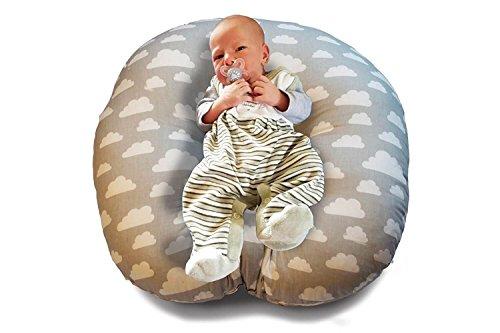 Baby Lounger Lagerungskissen Mini Stillkissen 55 x 55 x 20 cm klein mit Tragegriff I Liegekissen I Baby Liegekissen Sitzsack Nestchen