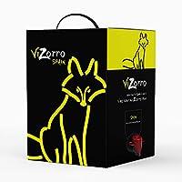 Bag in Box 5L I Vino rosso Vino rosso consigliato Box con rubinetto I Uve selezionate 🍇 - Vino della terra di Castilla y León dal sapore morbido I Rosso Tempranillo Vizorro
