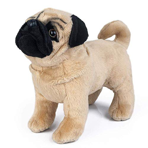 Plush Pug Dog Children's Plush Stuffed Animal, Plush Dog 12""