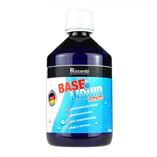 Riccardo Basisliquid Cloud Base, 70{97a6c5f4858fe2787921b07a101fb59650c505db4e8a758904431c478f5759f1} VG/30{97a6c5f4858fe2787921b07a101fb59650c505db4e8a758904431c478f5759f1} PG, Base Liquid 0,0 mg Nikotin, 500 ml