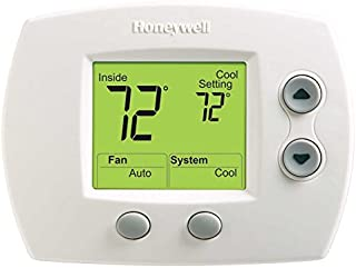 Honeywell TH5320U1001 FocusPRO 5000 Non-Programmable Thermostat - Large Screen, HP/HC, 3H/2C, Auto C/O, Dual Powered