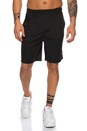 Raff & Taff Herren Shorts Bermuda Sportshorts Sporthose Funktionshose Trainingshose schnell trocknend (Schwarz, 5XL)
