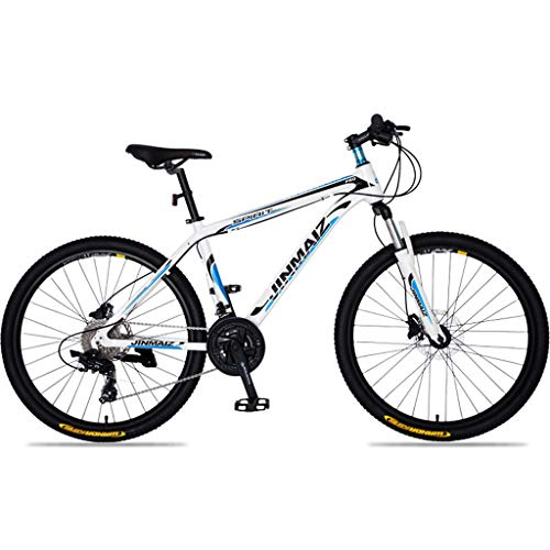27.5' 650B Wheel Hardtail Front Suspension Mountain Bike Hydraulic Disc Brakes 21 Speed Alloy 16' Frame Blue/Yellow