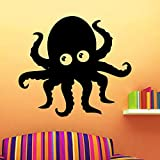 Envío gratis Octopus Vinyl Wallpaper Rollo Muebles Decoración Bebé Habitación de los niños Decoración PVC Decorativo Tatuajes de pared A4 XL 58cm X 65cm