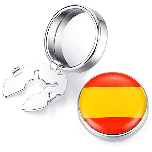 HONEY BEAR Cubre Botones Bandera Gemelos para la Camisa ordinaria