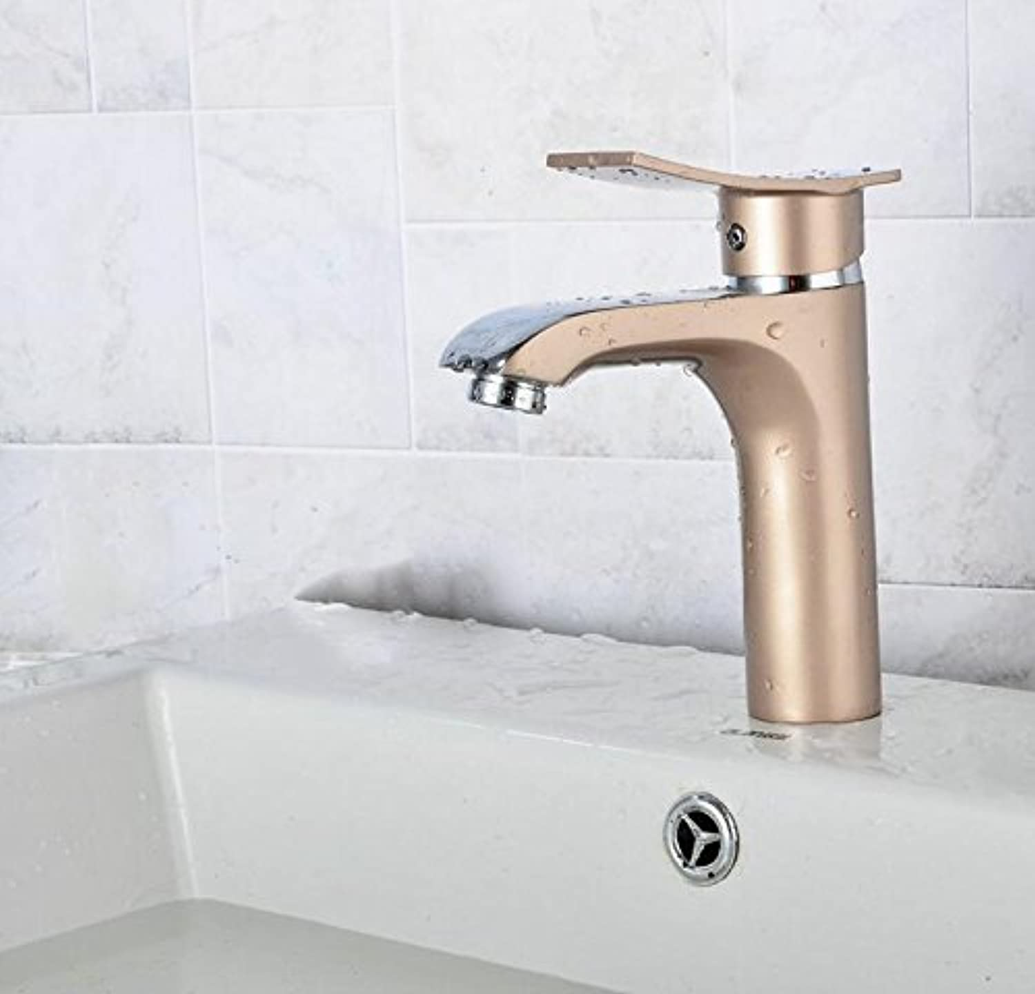 TOYM Washbasin Hot And Cold Faucet Bathroom Can Be redated Single Handle All Copper Paint Faucet