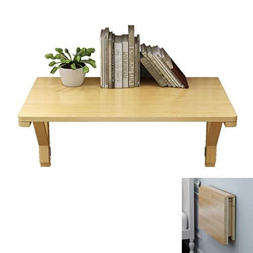 Aan de muur bevestigde vloer table Klaptafel Muur lijst muur opknoping massief houten tafeltje thuis ontbijttafel tafel, bespaart ruimte waterdicht, houtkleur laptop bureau (Size : 80×40cm)