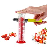 Alimtee Grape Slicer, Strawberry Slicer, Small Tomato Cutter, Adjustable Cherry Cherries Cutter, Fruit Salad Making Pizza Fruit Dispenser, Suitable For All Kinds Of Small Fruits