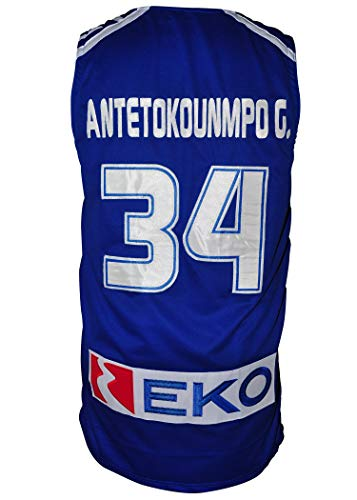 Giannis Greek Freak Royal Blue Basketball Greece Jersey Stitch All True Size (44)