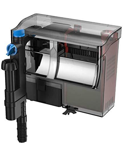 YCTECH Aquarium Hang-On Back Power Filter System: 6W Skimmer 3 Stage Water Skim 10 to 50 Gal | 211GPH | 133GPH |