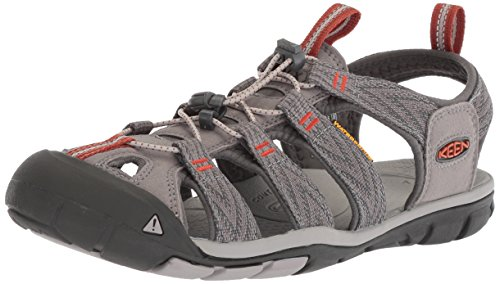 KEEN Men's Clearwater CNX-M Sandal, Grey Flannel/Potters Clay, 10.5 M US