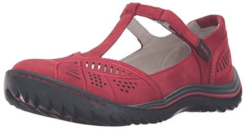 Jambu Women's Bridget Flat, Red, 8.5 M US
