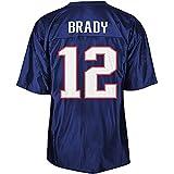 OUOT Patriots Brady 12# Maillot de Rugby pour Homme T-Shirts en Molleton, Fibre de Polyester à séchage Rapide Occasions applicables: Entraînement de compétition pour Hommes-athlètes en Plein air Tous