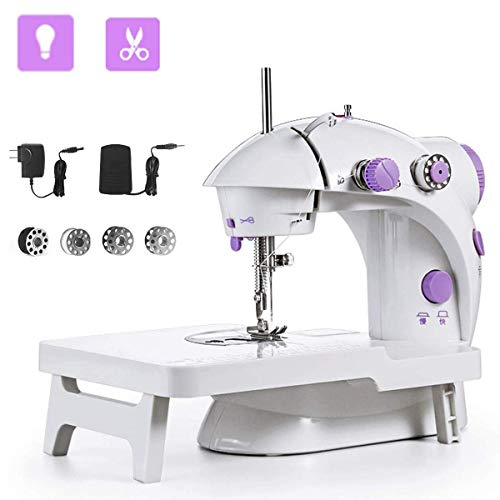 Buy Discount Sewing Machine, Mini Portable Double Speed Kid's Sewing Machine for Beginners with Ligh...