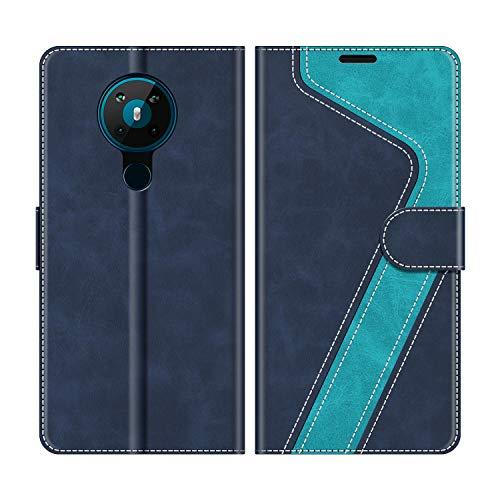 MOBESV Handyhülle für Nokia 5.3 Hülle Leder, Nokia 5.3 Klapphülle Handytasche Hülle für Nokia 5.3 Handy Hüllen, Modisch Blau