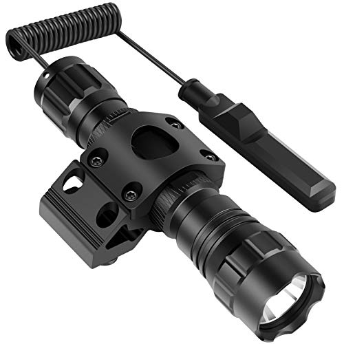 Fyland Tactical Flashlight, 1200Lumens Waterproof LED Flashlight Compatible with Mlok Rails Mount Included Rechargeable Batteries, Small Flashlight for Outdoor Hiking Camping