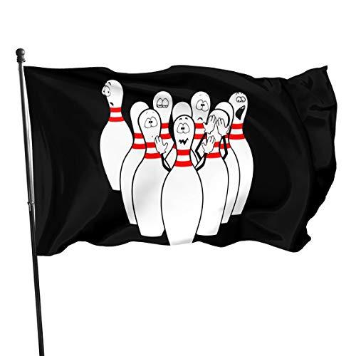 Paoseven Bowling Decorative Garden Flags, Outdoor Artificial Flag for Home, Garden Yard Decorations 3x5 Ft