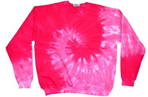 Colortone Tie Dye Sweatshirt 3X Spiral Pink