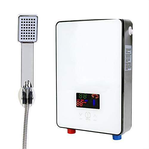 Regalo De Abril Calentador de Agua Caliente eléctrico instantáneo sin Tanque, Calentador de Agua Caliente eléctrico 220V 6500W para Ducha de baño en casa
