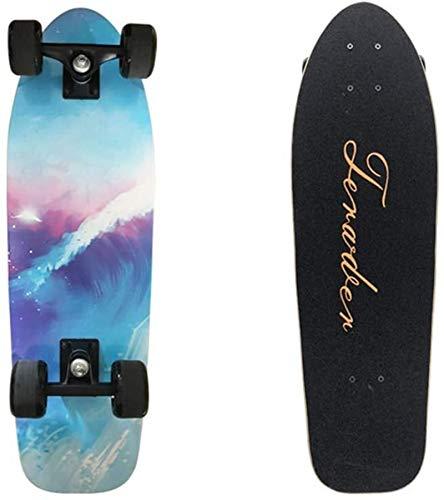 YELVQI Game # Berufs Straße Tanzbrett Skateboard Deck Erwachsene Kinder Skateboard Komplettboard mit ABEC-11 Lager 92A Hard Maple Deck, Tornado Skateboard