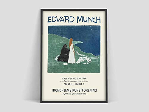 Póster de exposición Munch, póster del Museo Munch, dos mujeres, lienzo decorativo sin marco familiar, pintura Q-54 40x50cm