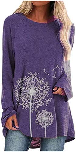 Aniywn Women s Plus Size Sweatshirt Tops Ladies Baggy Long Sleeve Thin Solid Printing Pullover product image