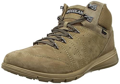 Woodland Men's Dubai Khaki Leather Ankle Boot-8 UK (42 EU)(GB 3453119)