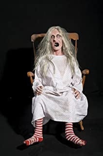 Distortions Unlimited Rocking Granny Witch Old Hag Scary Animated Halloween Haunted Prop
