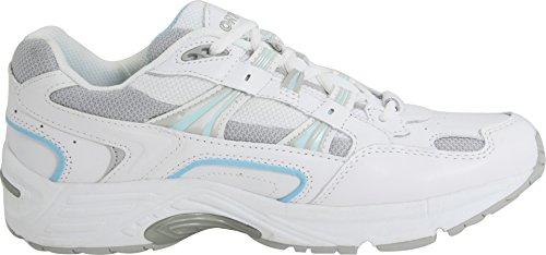 Vionic Women's Walker Classic Shoes, 8.5 W US, White/Blue