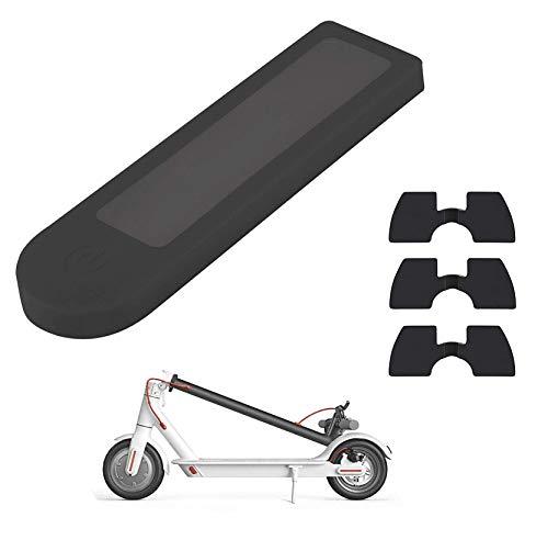 Yungeln El Accesorio de Repuesto para Scooter Incluye una Cubierta de Silicona Resistente al salpicadero y un Amortiguador de Vibraciones de Goma para Xiaomi 1S/M365/Pro Scooter - Negro