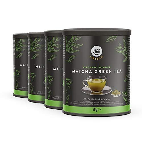 Marca Amazon – Happy Belly Select Té verde matcha en polvo, a granel, 4x50g