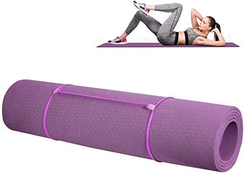 RENFEIYUAN S Gymnastics Fitness S TPE Ejercicio Delgado Deporte al Aire Libre para Pilates, Fitness, Deportes y Entrenamiento 183 x 61 x 0.6 Cm Púrpura esterillas Yoga Mat