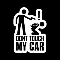 アウトドア ステッカー 11センチメートル* 15CM DONT TOUCH MY CAR楽しいビニールステッカー車のステッカーブラックシルバーアクセサリー アウトドア ステッカー (Color Name : Silver)
