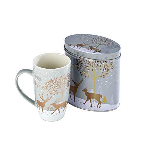 Arthur Price XMUG0002 - Tazza in ceramica con renna