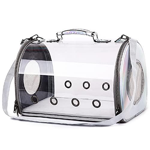LSJQ Transportines para Mascotas aprobados por la aerolínea, Bolso Cruzado Transparente para Gatos,la Carga máxima Recomendada es de 5 kg(11lb)