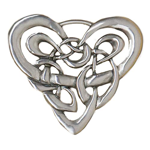 Cynthia Webb Designs Celtic Heart Pewter Wall Plaque - Handcrafted in the USA