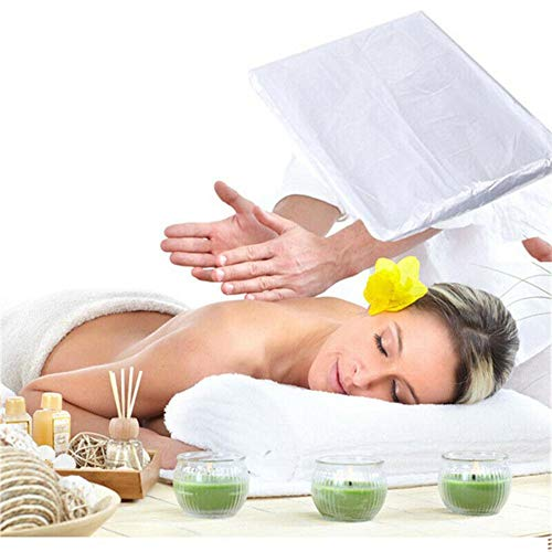 Melo-bell 100PCS Disposable Bed Sheets Waterproof Massage Table Sheet for Spa Body Treatments