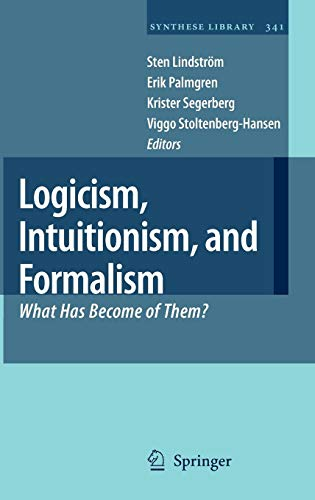 Logicism, Intuitionism, and Formalism: What Has Become of Them? (Synthese Library)