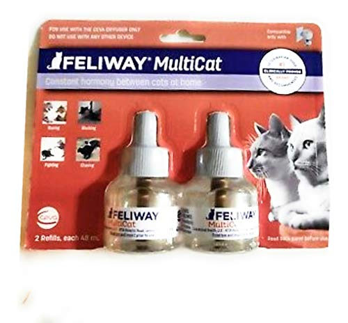 FELIWAY Multicat Diffuser Refill 2 Refills 48ml Each