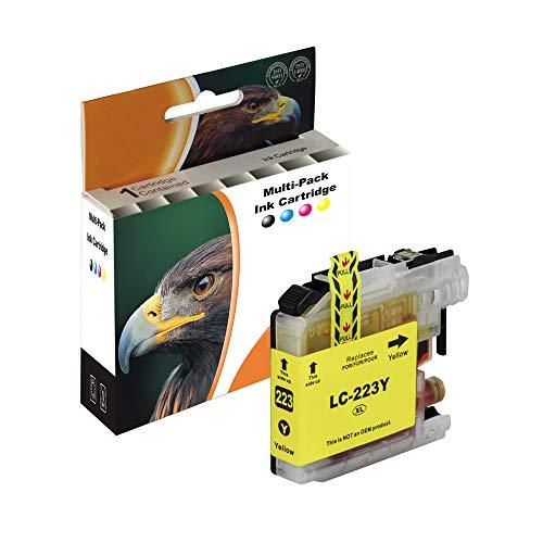 D&C 1x 10ml Yellow XL Farbe Druckerpatronen Komp. für Brother LC223Xl LC223 XL LC-223 XL LC-223XL für Brother MFC-J4420DW MFC-J4620DW MFC-J4625DW MFC-J480DW MFC-J5320DW MFC-J5620DW MFC-J5625DW J562DW