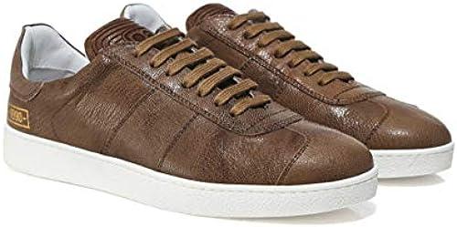 Pantofola d& 039;Gold Herren Wachsleder Neue Zeland-Trainer Braun