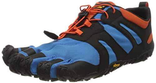 Vibram V-Trail 2.0, Zapatillas para Hombre, Azul/Naranja, 41 EU