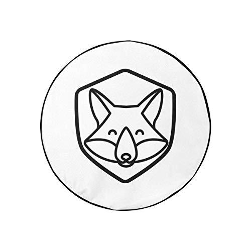 Cubierta para llantas Fox Logo Art Creative Bolsa para llantas de repuesto Moda portátil a prueba de polvo Cubierta de rueda de repuesto para Jeep Trailer Rv Suv y la mayoría de los automóviles (diám