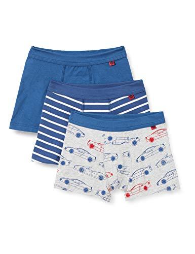 Sanetta Jungen Shorts im Set blau Boxershorts, Ink Blue, 140